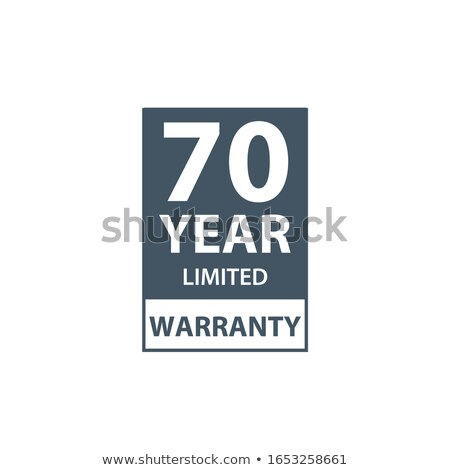 70 years limited warranty icon or label, certificate for customers, warranty stamp or sticker. vecto Stock photo © kyryloff