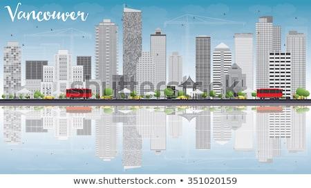 Vancouver sziluett szürke épületek kék ég üzleti út Stock fotó © ShustrikS