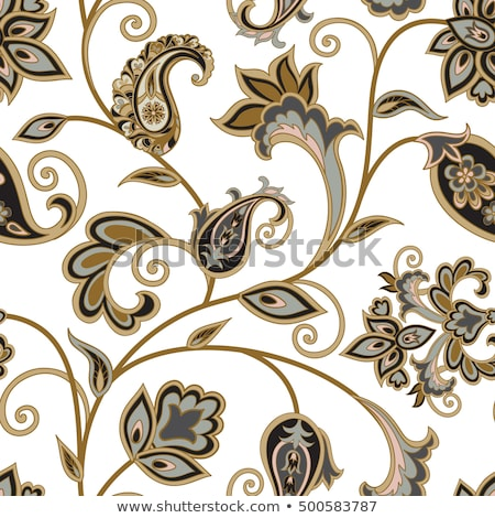 Floral pattern. Flower oriental ethnic background. Arabic Flourish ornament with fantastic flowers a Stock photo © Terriana