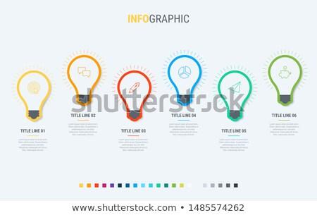 Wektora infografiki timeline szablon żarówki elementy Zdjęcia stock © ukasz_hampel