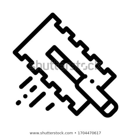 tile scraper icon vector outline illustration Stock photo © pikepicture