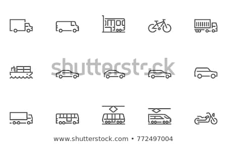 motor lorry icon vector outline illustration Stock photo © pikepicture