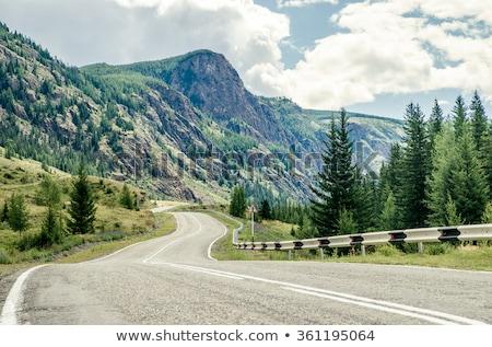 Estrada montanhas república sibéria Rússia céu Foto stock © olira