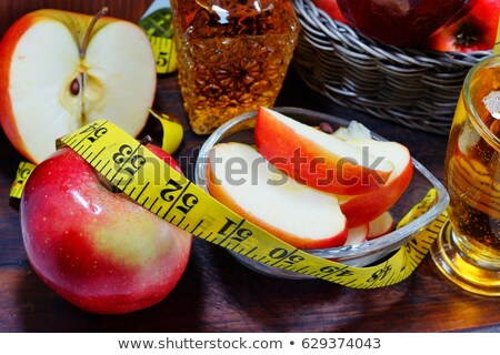 赤いリンゴ センチ 孤立した 白 食品 色 ストックフォト © olgaaltunina