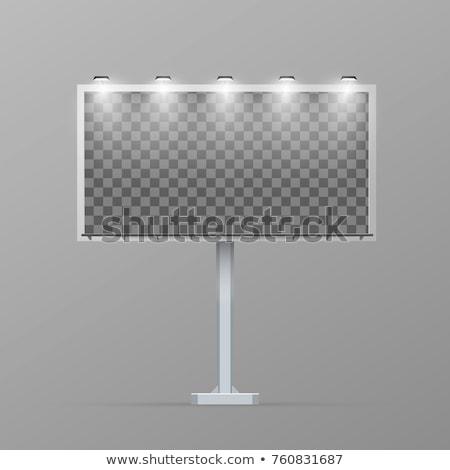 Bianco cartellone pilastro trasparente luogo pubblicizzare Foto d'archivio © evgeny89