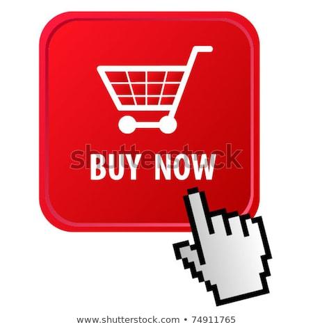 Compras on-line mão clique cursor botão Foto stock © yupiramos