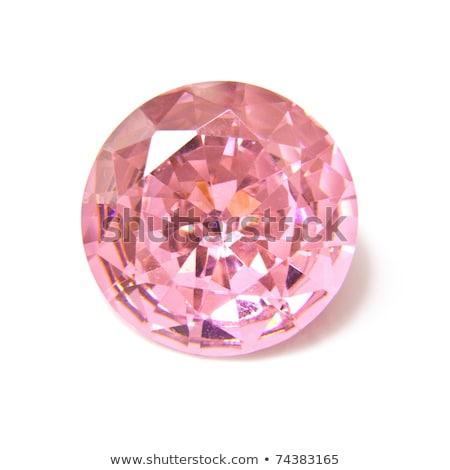 Pink diamond on white background Stock photo © oneo