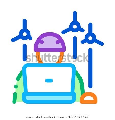 Teknisyen ikon vektör örnek imzalamak Stok fotoğraf © pikepicture