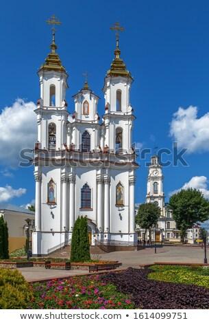 Heilig verrijzenis kerk markt vierkante hemel Stockfoto © borisb17