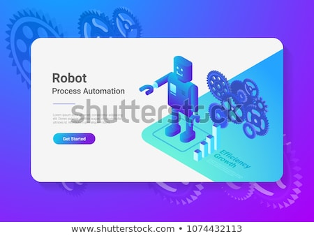 Artificial Intelligence Bot Wheel isometric icon vector illustration Stock photo © pikepicture