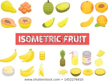 Alimentação saudável fruto banana isométrica ícone vetor Foto stock © pikepicture