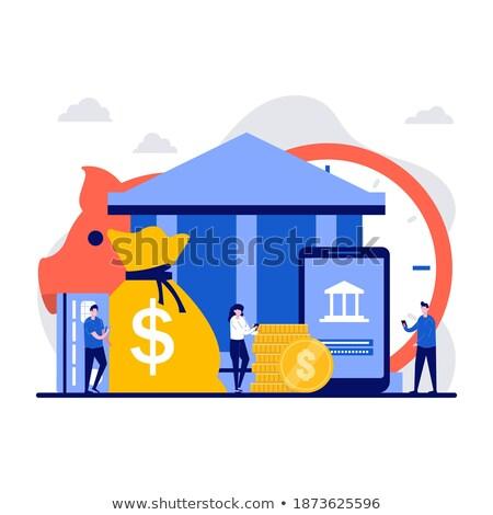 Ceny wektora metafora naprzód pieniężnych kierować Zdjęcia stock © RAStudio