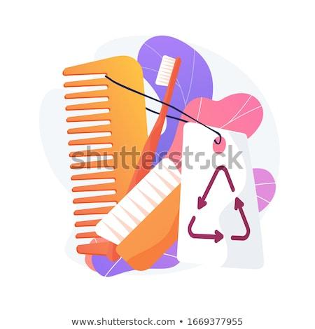 пластиковых свободный гигиена продукции вектора метафора Сток-фото © RAStudio