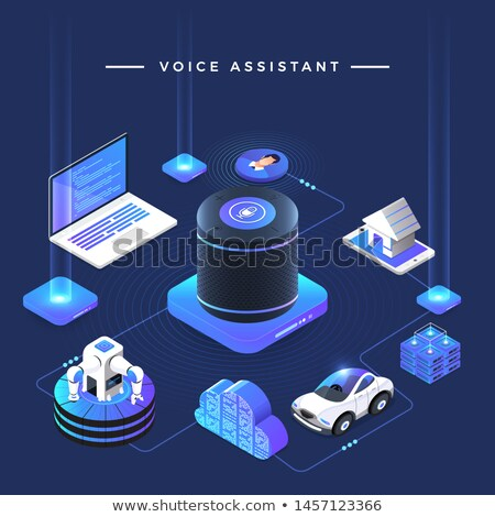 Sound Microphone Voice Control isometric icon vector illustration Stock photo © pikepicture
