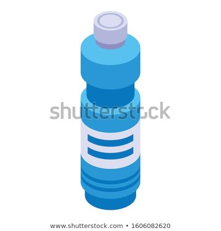 гигиена мыло бутылку изометрический икона вектора Сток-фото © pikepicture