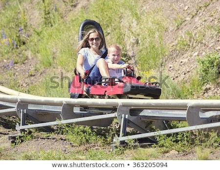 матери сын альпийский каботажное судно счастливым зеленый Сток-фото © galitskaya