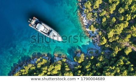 Stock photo: Boat And Island