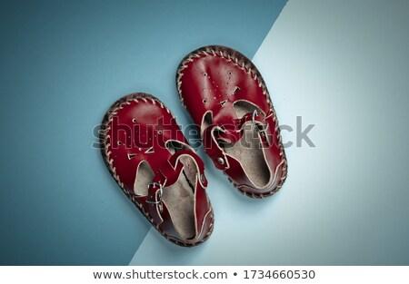 Red leather baby sandal Stock photo © RuslanOmega