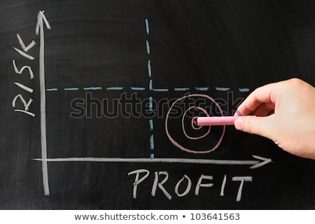 Сток-фото: Risk Profit Graph On Blackboard