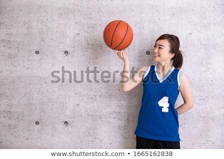 vrouw · basketbal · sport · model · springen · bal - stockfoto © dash