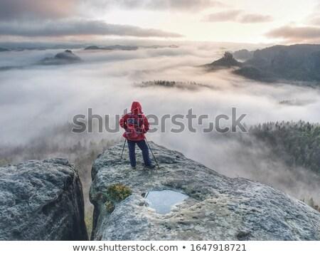 пеший турист Постоянный иллюстрация Top горные путешествия Сток-фото © pkdinkar