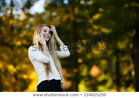 secondary school portrait blonde teenage girl stock photo © darrinhenry