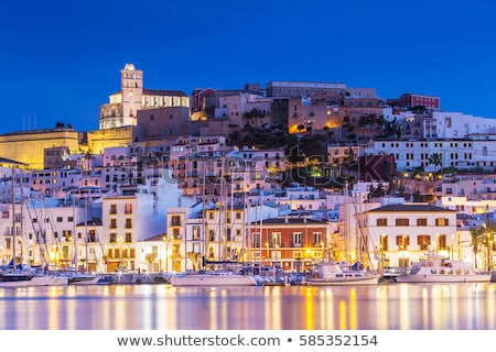 Ibiza island Eivissa town night view Stock photo © lunamarina