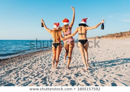 Mikulás nők ölel barátságos kettő szexi Stock fotó © feedough
