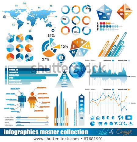 Premie infographics meester collectie grafieken pijlen Stockfoto © DavidArts