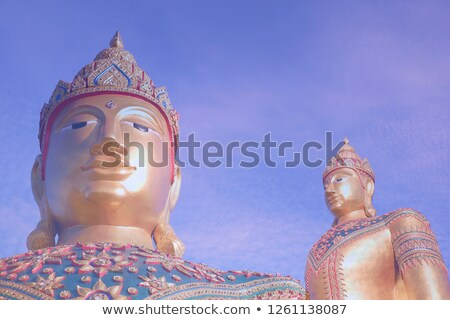 Close-up angle of the side buddha's face stock photo © duoduo