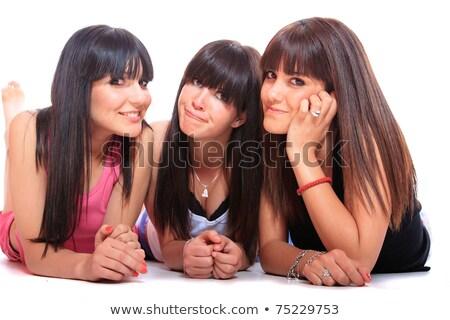 Három női barátok fektet együtt divat Stock fotó © photography33