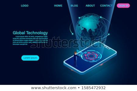 смартфон земле мира иллюстрация сеть Сток-фото © pkdinkar