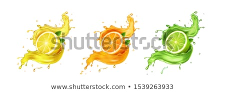 ストックフォト: オレンジ · レモン · 石灰 · ジュース · スプラッシュ · 抽象的な