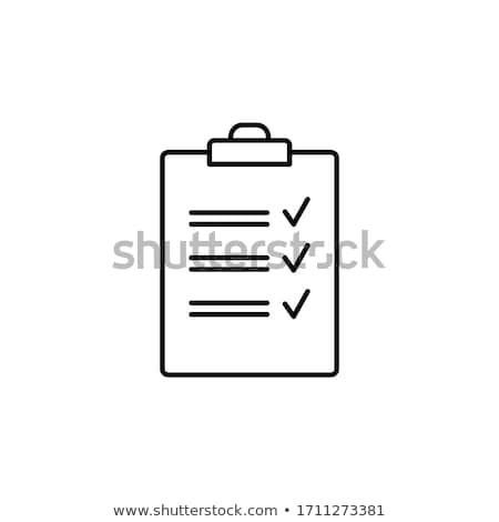 rouge · presse-papiers · liste · affaires · papier - photo stock © dacasdo