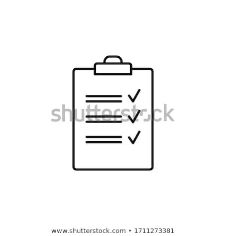 Clipboard with checkmark Stock photo © dacasdo