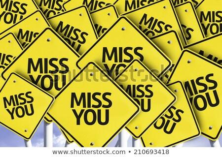i miss you in golden heart stock photo © marinini