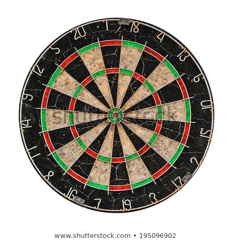 darts · telitalálat · játék · pontosan · középső · üzlet - stock fotó © photocreo