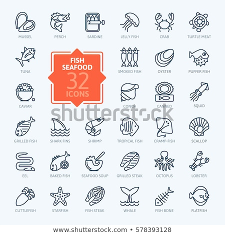 Octopus Eating Crabs and Scallops Stock photo © Laracca