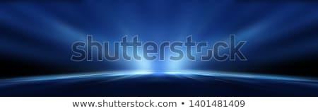 Niebieski promienie energii streszczenie ilustracja falisty Zdjęcia stock © Artida