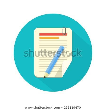 Kalem kalem dikkat kağıtları mavi Stok fotoğraf © luapvision