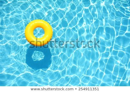 Yaz havuz havlu güneş gözlüğü yüzme havuzu su Stok fotoğraf © Hofmeester