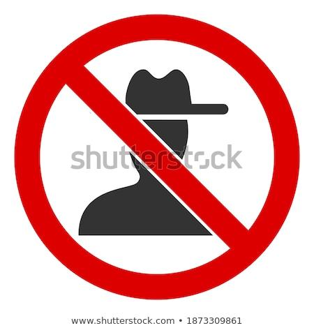 Nem leírás keret fehér hátterek mag Stock fotó © artjazz