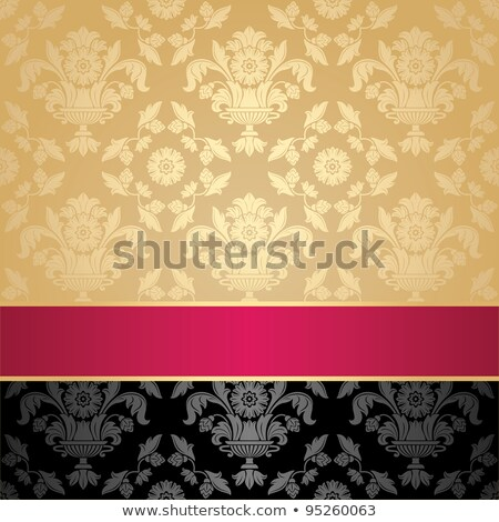 Pink fabric curtain, gold vignette Stock photo © Ecelop