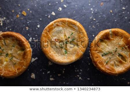 Poulet pot tarte au-dessus vue fraîches Photo stock © StephanieFrey