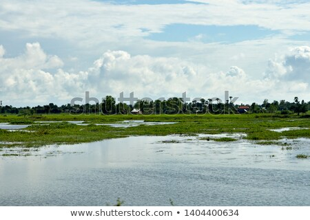Aldeia casa rural Camboja rio madeira Foto stock © travelphotography