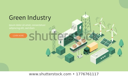 go green wind turbine park stock photo © cienpies