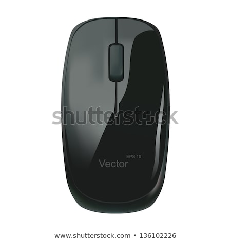 Computer mouse on black background. Vector illustration Stock photo © leonido