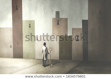 answers conceptual door stock photo © donskarpo