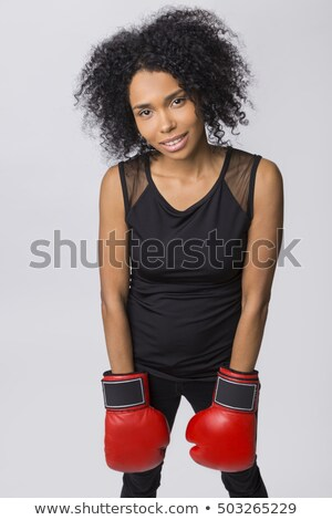 exhausted female boxer stock photo © stryjek