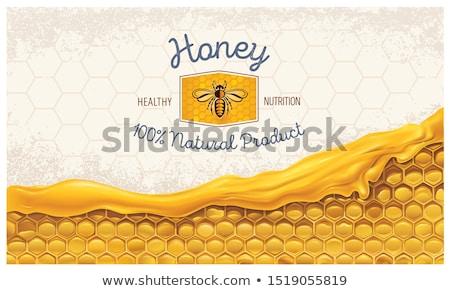 honey labels stock photo © mikemcd